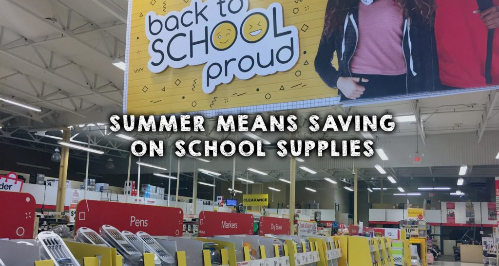 Summer Means Saving on School Supplies