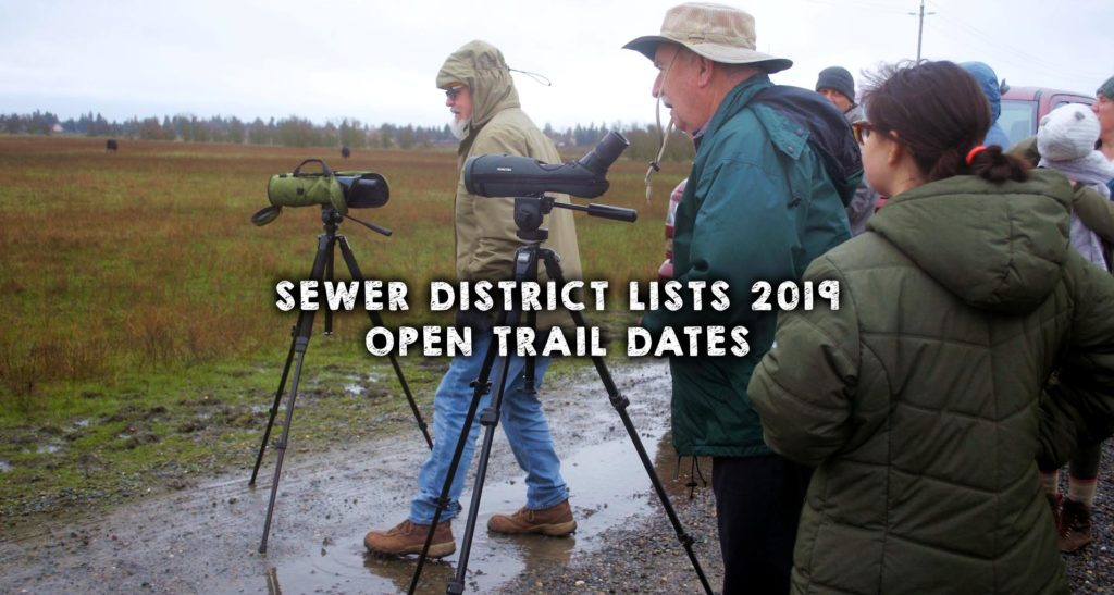 Sewer District Lists 2019 Open Trail Dates